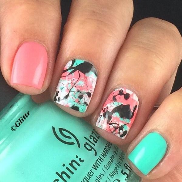 marble nail art designs (16)