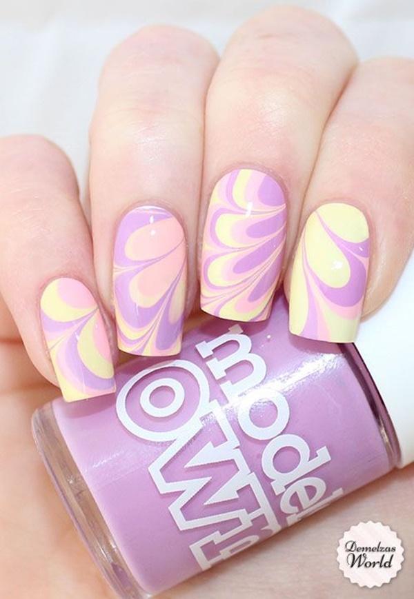 marble nail art designs (17)