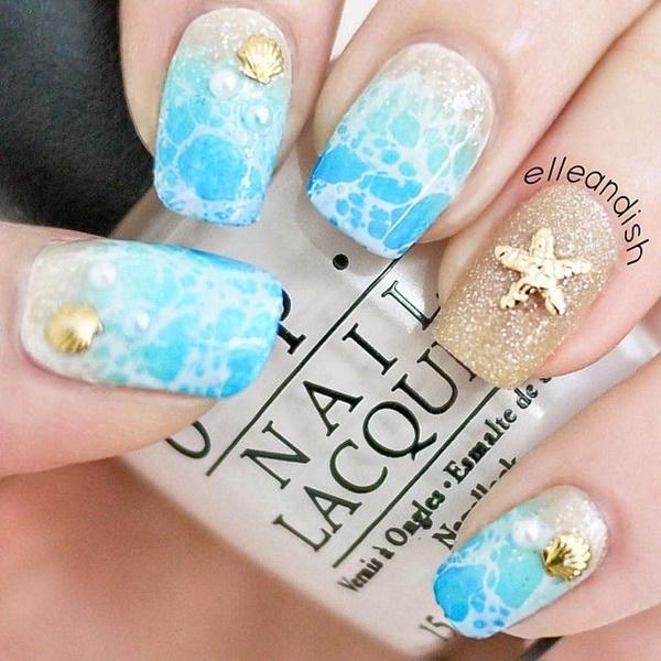 marble nail art designs (19)