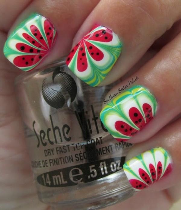 marble nail art designs (20)