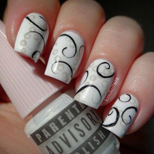 marble nail art designs (24)