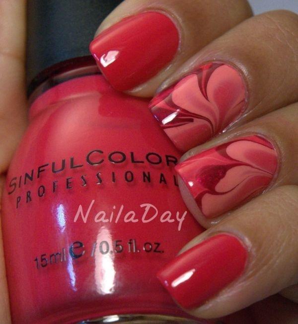 marble nail art designs (26)