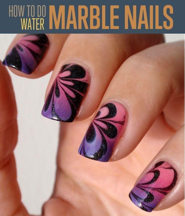 marble nail art designs (28)
