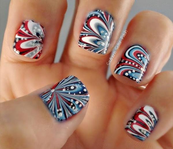 marble nail art designs (31)