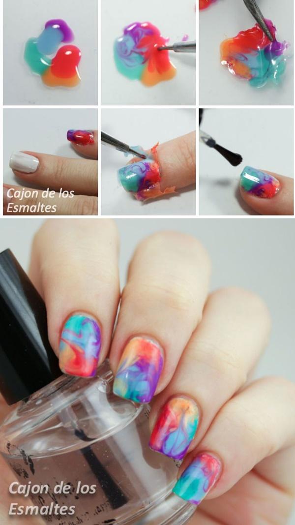 marble nail art designs (33)