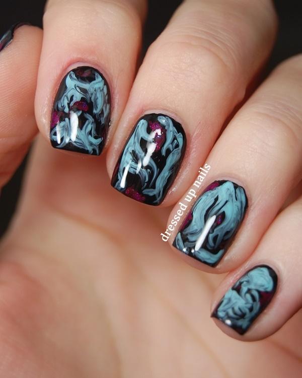 marble nail art designs (35)