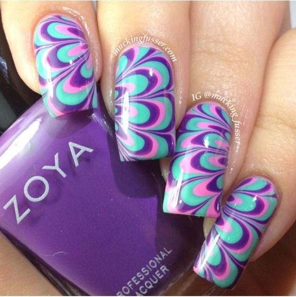 marble nail art designs (4)