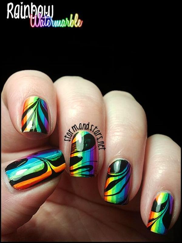 marble nail art designs (47)