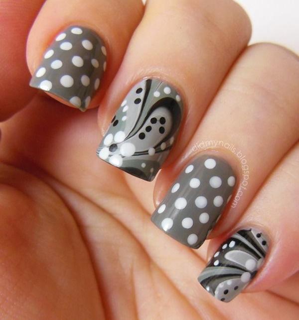 marble nail art designs (49)