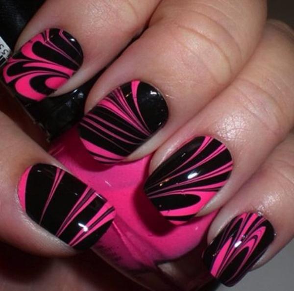 marble nail art designs (50)