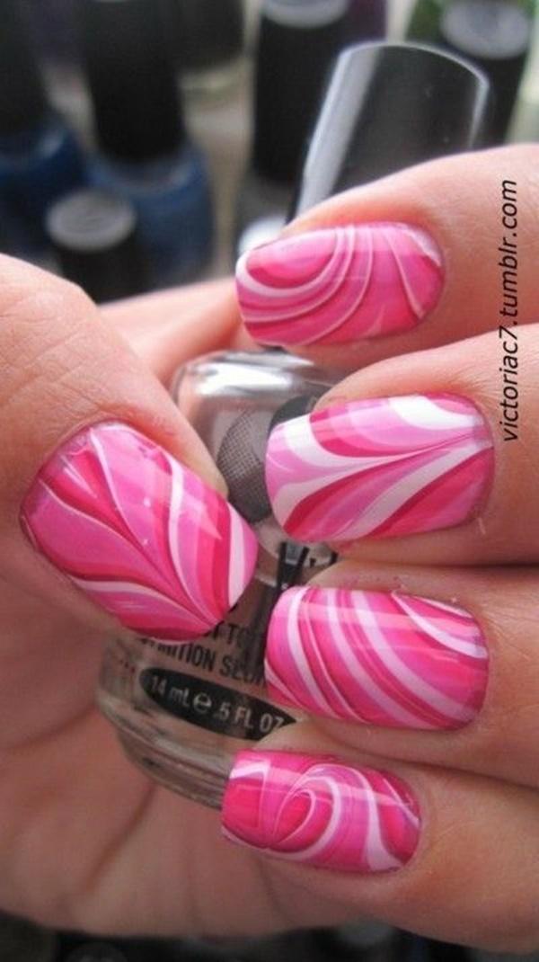 marble nail art designs (60)