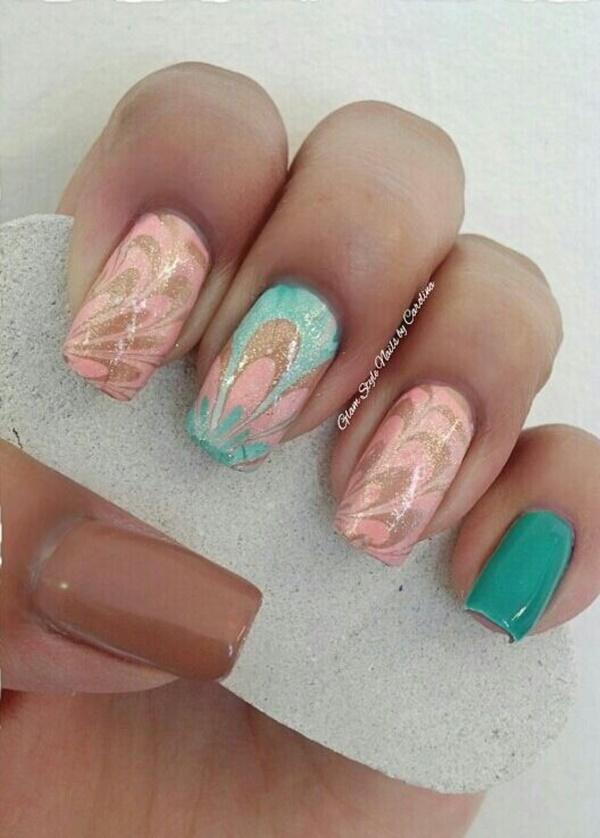 marble nail art designs (66)