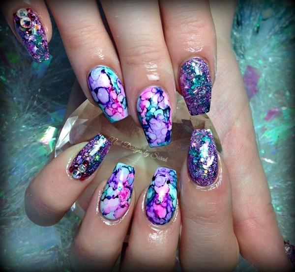 marble nail art designs (9)