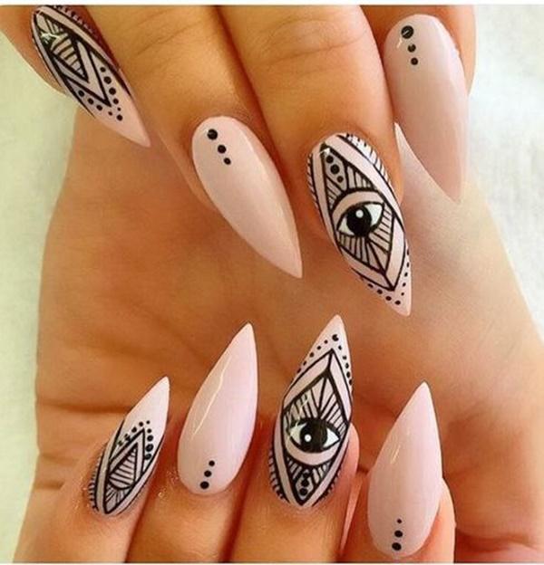 aztec-nail-art-11 - 101 Simple Aztec Nail Art Designs