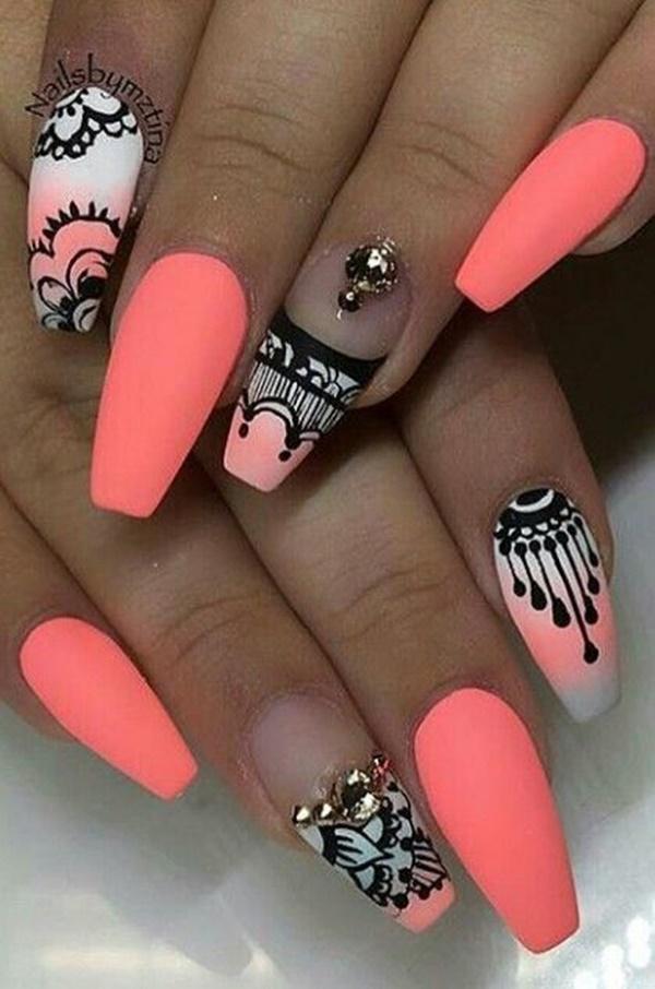 aztec-nail-art-22 - 101 Simple Aztec Nail Art Designs