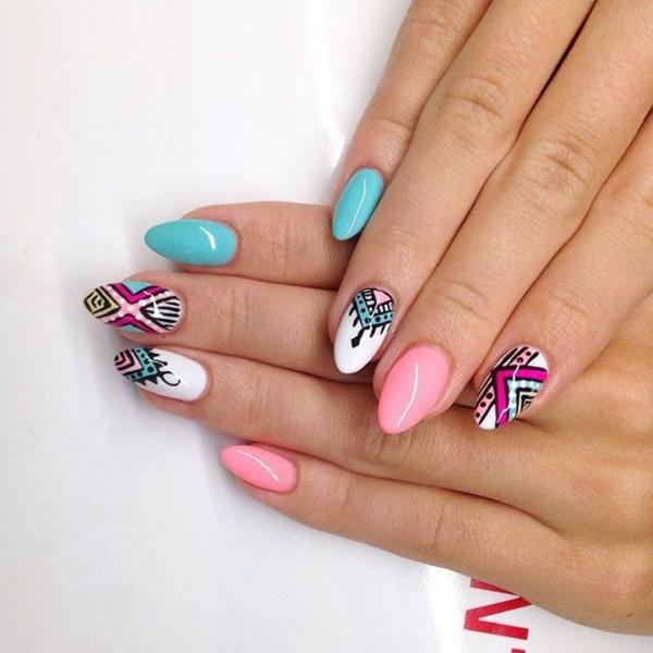 aztec-nail-art-5 - 101 Simple Aztec Nail Art Designs