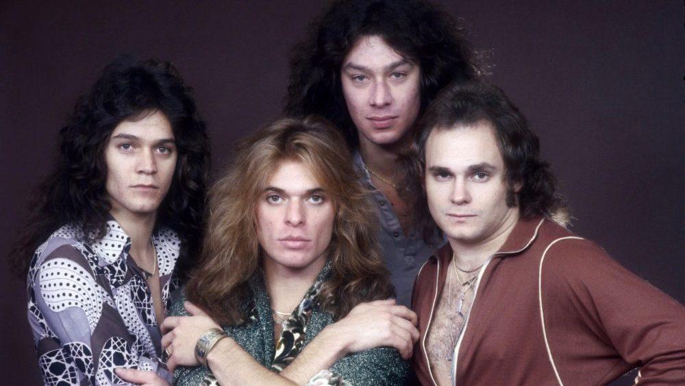 Eddie Van Halen and his band