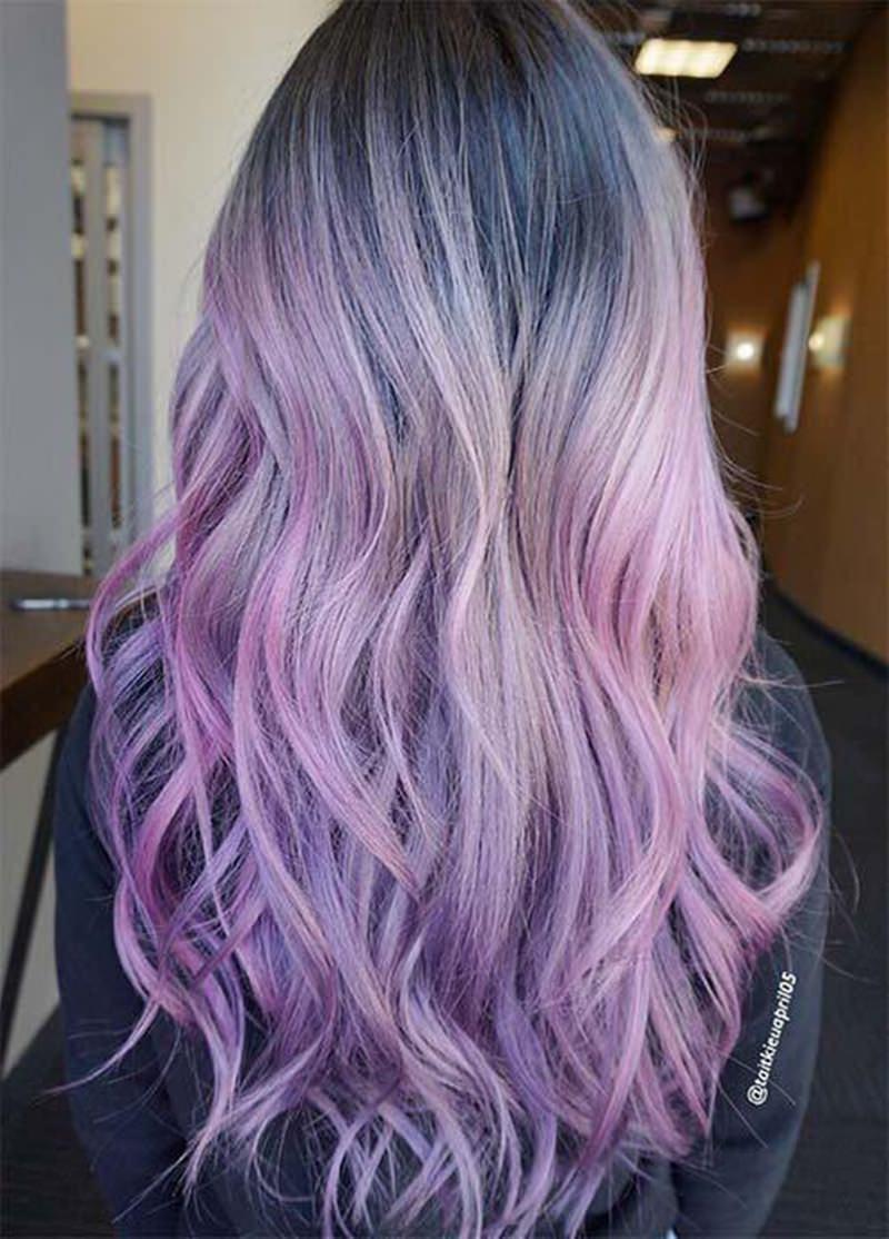 subtle lavendair hair