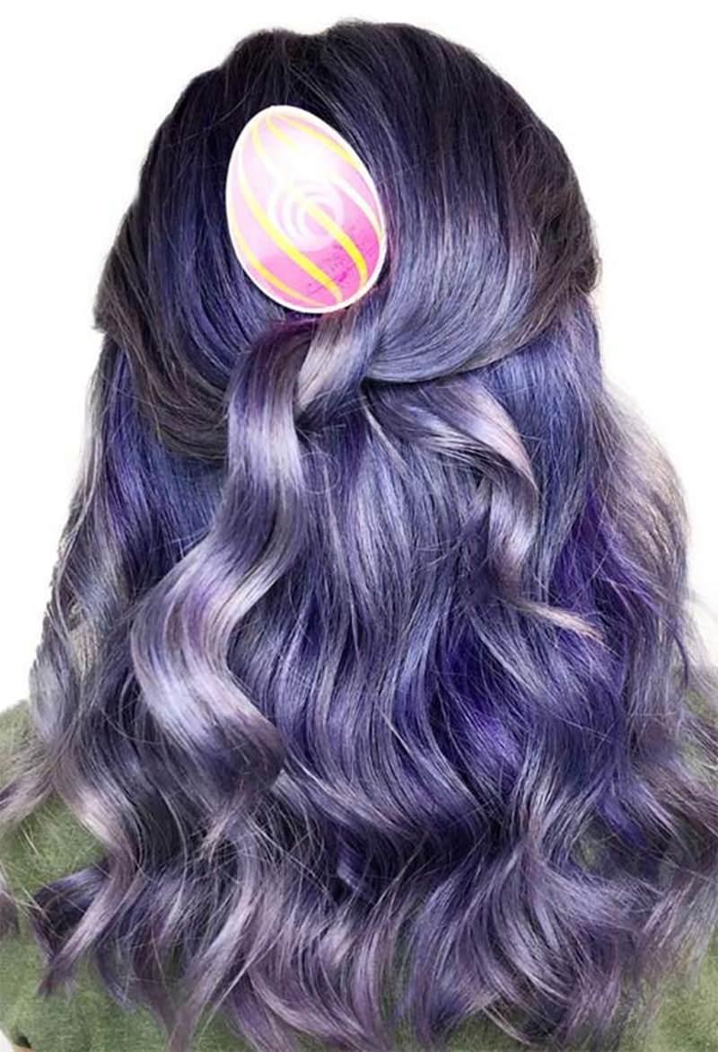 slightly dark lavender hair