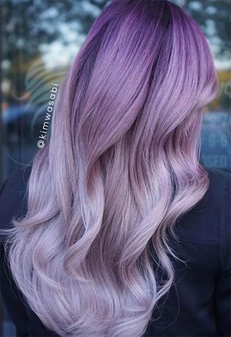 wavy lavender hair