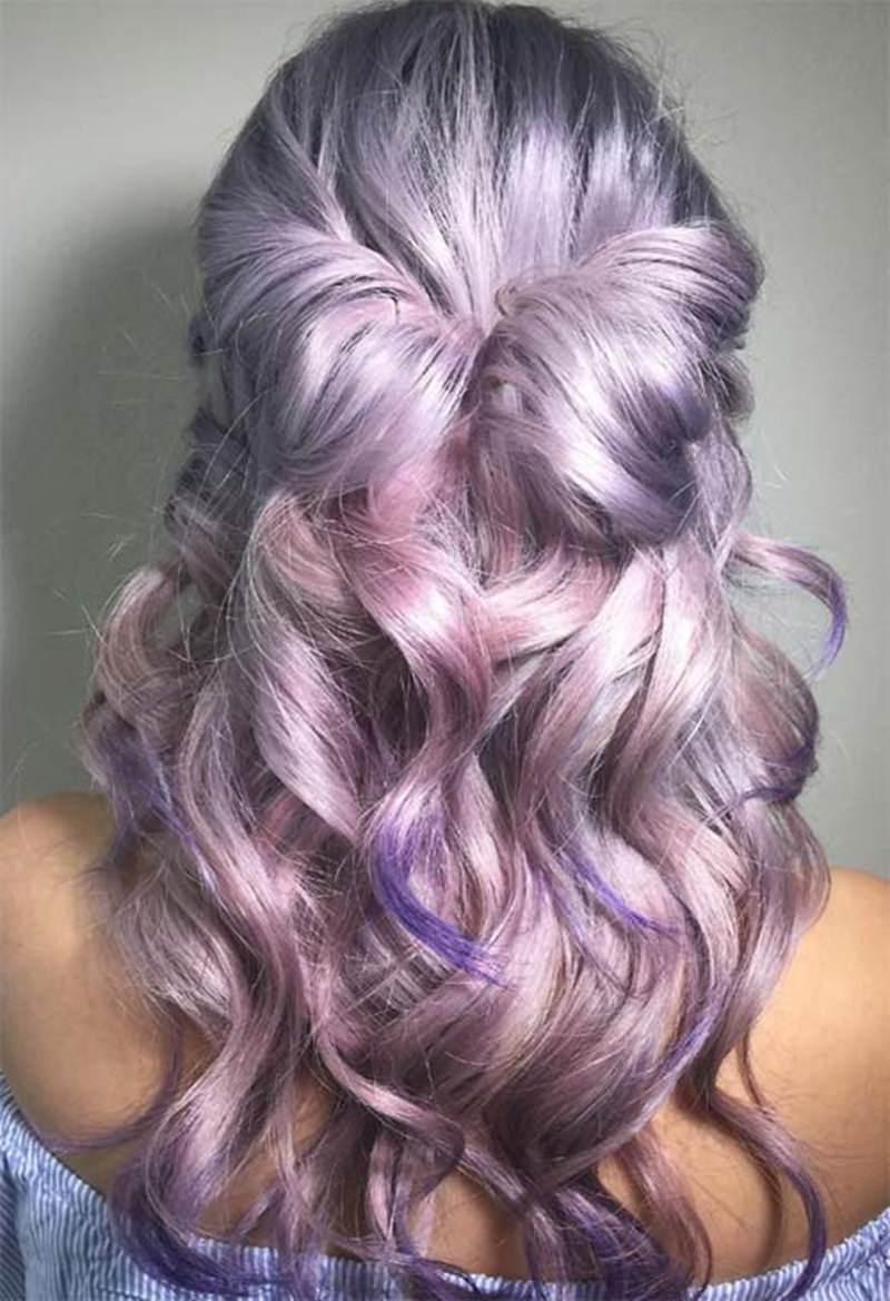 curly lavender hair