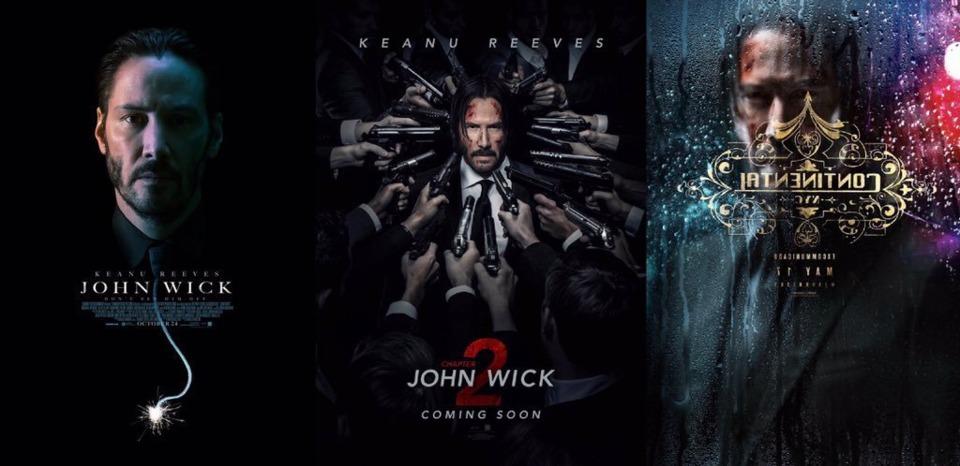 Keanu Reeves at John Wick Trilogy