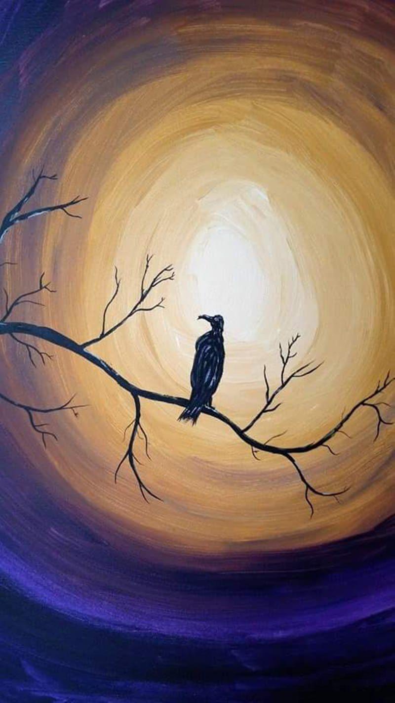 bird canvas painting