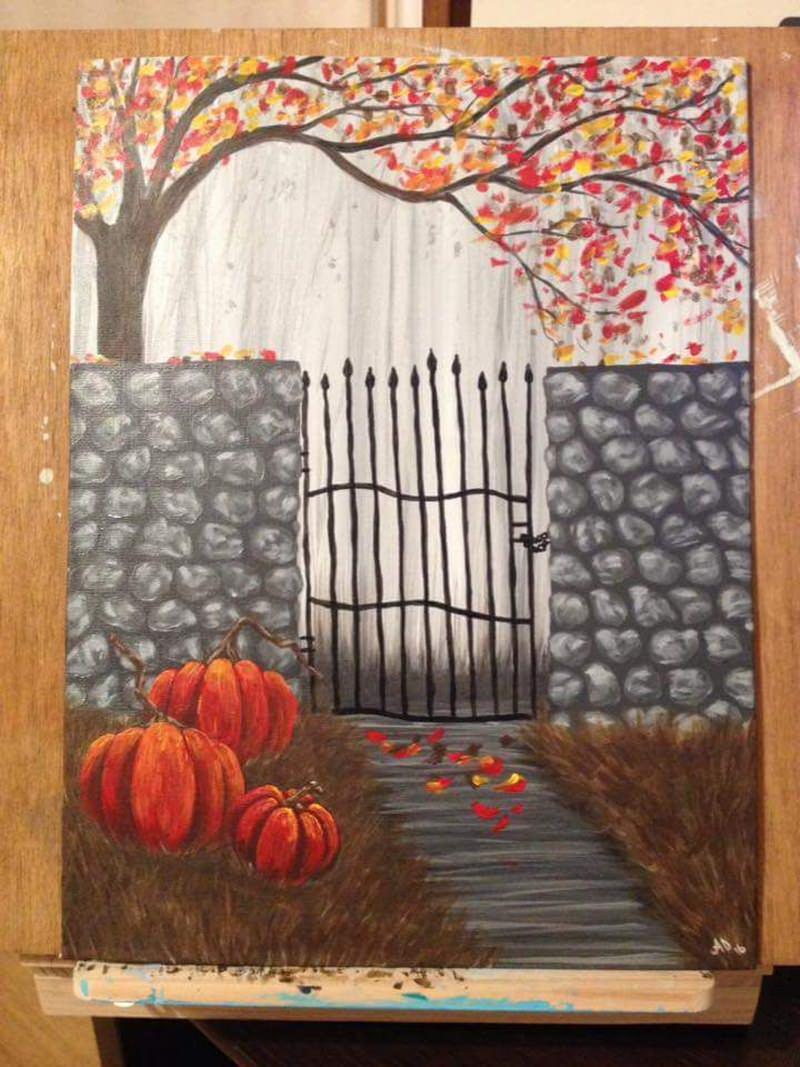 halloween canvas painting