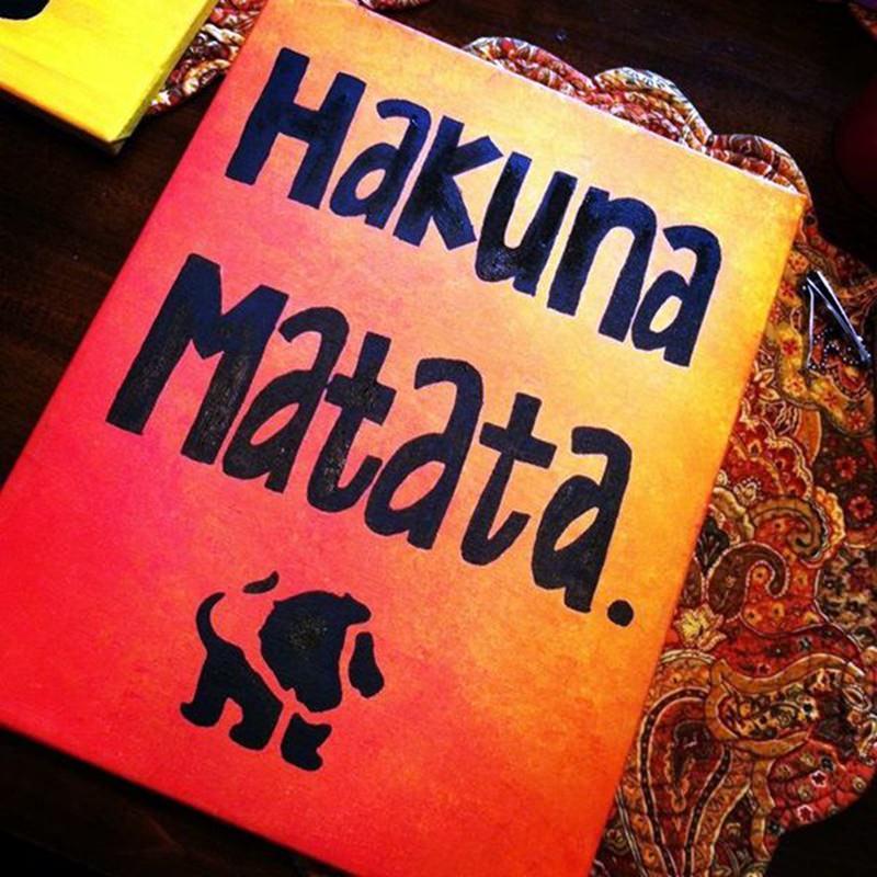 hakuna matata canvas painting