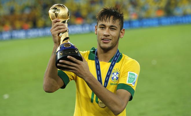 Neymar for Brazil in 2014