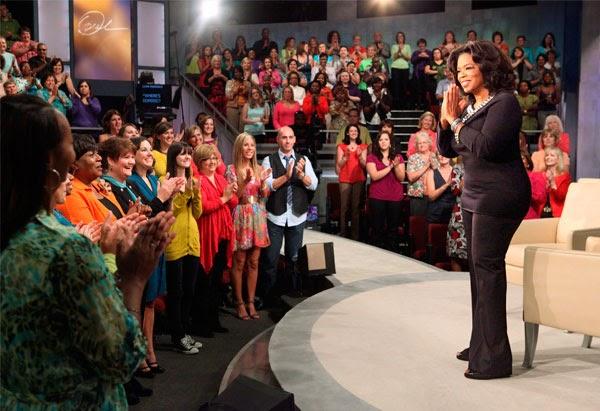 Oprah in her show