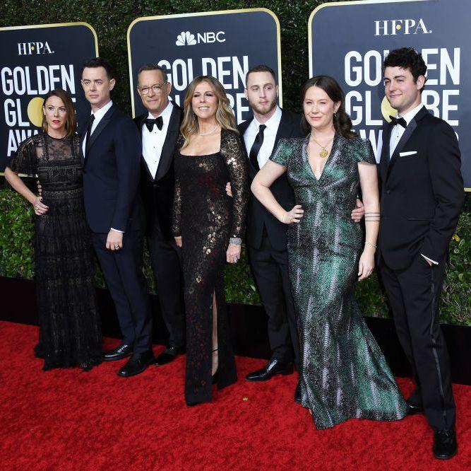 Tom Hanks with his children
